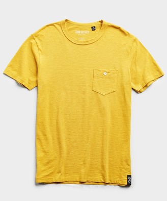 Todd Snyder Made in L.A. Slub Jersey Pocket T-Shirt in Maize