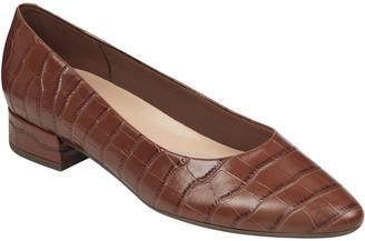 Easy Spirit Leather Slip On Pointed Toe Dress Shoes - Caldise