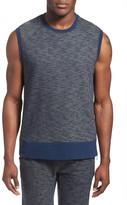 2xist Side Zip Cotton Blend Sleeveless Sweatshirt