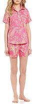 Lauren Ralph Lauren Paisley Sateen Boxer Pajamas