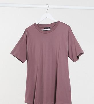 ASOS DESIGN Maternity ultimate oversized t-shirt in mink