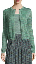 M Missoni Space-Dyed Lurex®; Cropped Cardigan, Olive