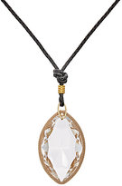 Kenneth Jay Lane WOMEN'S OVERSIZED PENDANT ON BRAIDED CORD