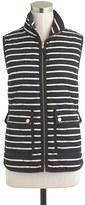J.Crew Excursion quilted vest in stripe