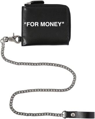 """Off-White Off White """"FOR MONEY"""" LEATHER CHAIN WALLET"""