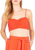 Kendall + Kylie Rouched Bustier Grenadine