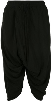Julius Dropped-Crotch Cropped Trousers