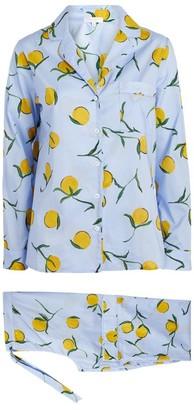 Yolke Cotton Lemon Print Classic Pyjama Set