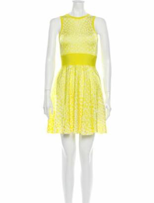 Issa Lace Pattern Mini Dress w/ Tags Yellow