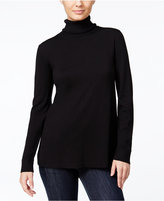 Kensie Pleated-Back Turtleneck Sweater