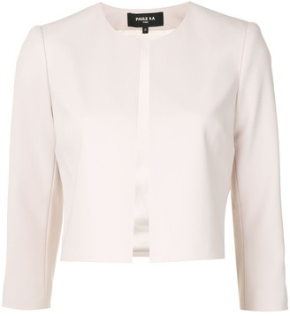 Paule Ka Collarless Cropped Blazer