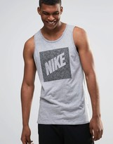 Nike Vest With Palm Print Swoosh In Grey 779780-063