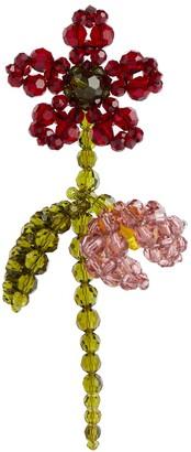 Simone Rocha Floral embellished single earring
