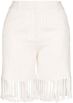 Xu Zhi Fringed High-Rise Shorts