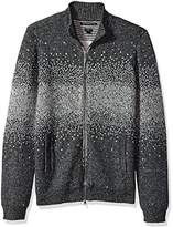 John Varvatos Men's Zip-Front Sweater