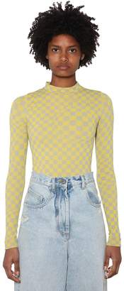 Off-White Off White Intarsia Tech Knit Top