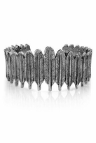 House Of Harlow Silver Large Feather Row Cuff