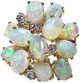 One Kings Lane Vintage 14K Gold Opal & Diamond Ring