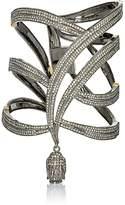 Carole Shashona Women's Pavé Black Diamond Goddess Cuff