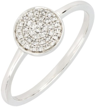 Carriere Sterling Silver Pave Diamond Large Circle Ring - 0.11 ctw