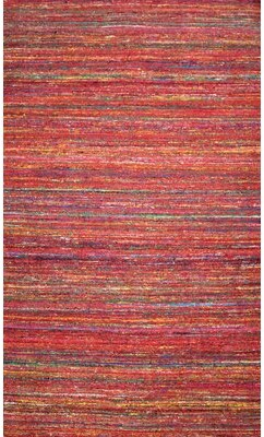 Moti Rugs Kilim Hand-Tufted Wool Red Area Rug Rugs Rug Size: Rectangle 5' x 8'