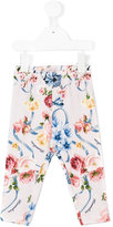 MonnaLisa floral printed leggings - kids - Cotton/Spandex/Elastane - 18 mth