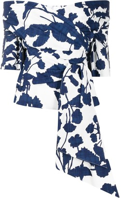 Talbot Runhof Balu floral print blouse