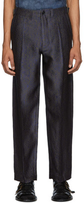 Nicholas Daley Khaki and Blue 70s Trousers