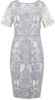 Adrianna Papell Embroidered Beaded Dress