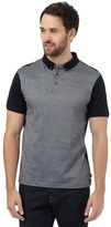 J By Jasper Conran Black Jacquard Textured Polo Shirt