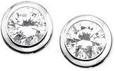 Crislu Earrings, Platinum Over Sterling Silver Bezel-Set Cubic Zirconia Stud Earrings (1 ct. t.w.)
