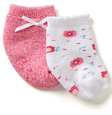 Starting Out Baby Girls 2-Pack Confetti Floral Booties