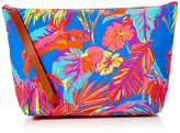 The Holiday Shop London Womens Canvas Clutch Bag Tropical Clutch Multicolour (Pink/Green/Blue)