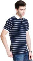 Joe Fresh Men's Stripe Pique Polo, JF Midnight Blue (Size S)