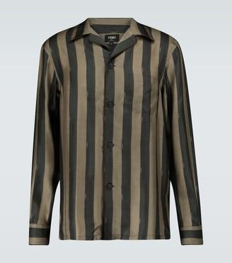 Fendi Striped pajama shirt