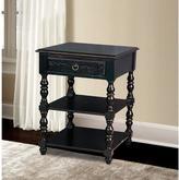 Pulaski Furniture Antique Holborn Black Storage Side Table