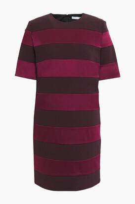 Victoria Victoria Beckham Striped Satin And Stretch-crepe Mini Dress