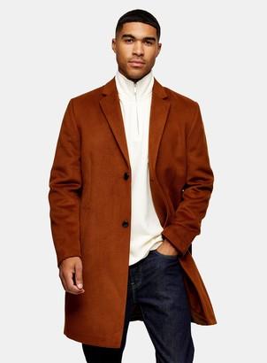 Topman CONSIDERED Rust Classic Fit Coat