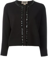 Giambattista Valli embellished trim jacket - women - Polyester/Viscose - 48