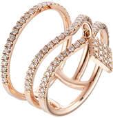 Diane Kordas 18kt Rose Gold Ring with White Diamonds