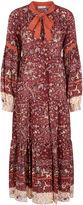 Ulla Johnson Ruby Silk Bird & Floral Print Isabetta Dress