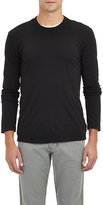 James Perse Men's Jersey Long Sleeve T-shirt-BLACK