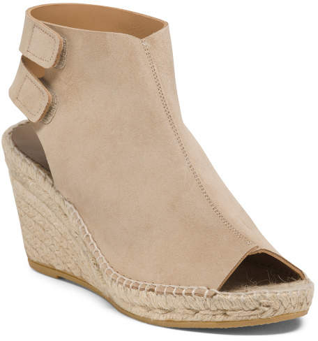 6a4941810d7 Made In Spain Suede Wedge Espadrilles