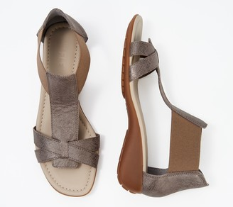 The Flexx Leather T-Strap Sandals - Band Together