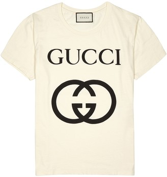 Gucci Off-white logo-print cotton T-shirt