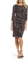 Adrianna Papell Women's Print Stretch Sheath Dress