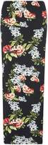 **Tall Black Floral Maxi Skirt