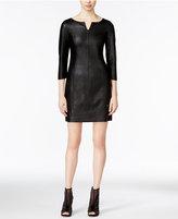 Armani Exchange Faux-Leather Sheath Dress