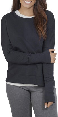 Fruit of the Loom Women's Essentials in Transit Long Sleeve French Terry Top