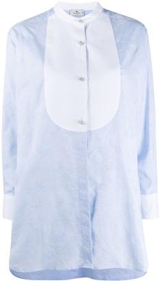 Etro Contrast Collar-Less Shirt